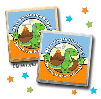 Kids Party Chocolates Favours Personalised Cute Dinosaur x10