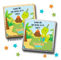 Kids Party Chocolates Favours Personalised Party Dinosaur x10
