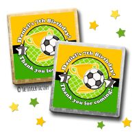 Kids Party Chocolates Favours Personalised Football x10