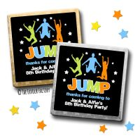 Kids Party Chocolates Favours Personalised Jump Trampoline Park x10