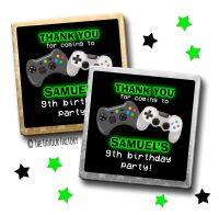 Kids Party Chocolates Favours Personalised Gaming x10