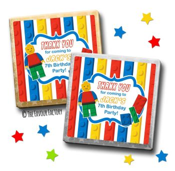 Kids Party Chocolates Favours Personalised Lego x10