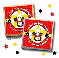 Kids Party Chocolates Favours Personalised Magic Theme x10