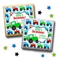 Kids Party Chocolates Favours Personalised Tractor x10