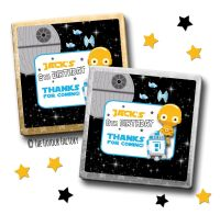 Kids Party Chocolates Favours Personalised Star Wars c3po x10