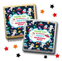 Kids Party Chocolates Favours Personalised Space Theme x10