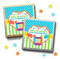 Kids Party Chocolates Favours Personalised Bouncy Castle x10