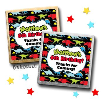 Kids Party Chocolates Favours Personalised Lot of Dinosaurs x10