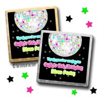 Kids Party Chocolates Favours Personalised Retro Disco Ball x10