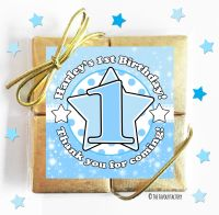 Age Star Blue Kids Party Chocolate Quads