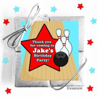 Kids Party Chocolate Quads Favours Boys Bowling x1