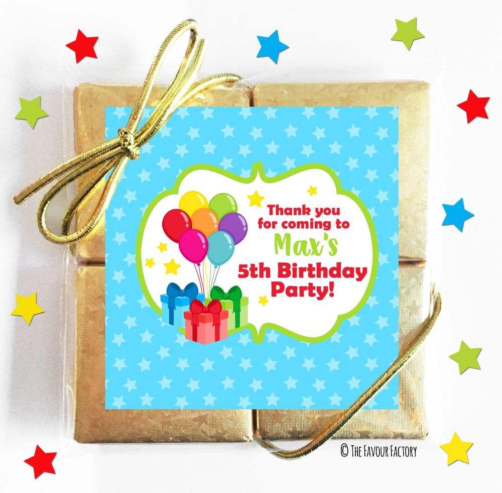 Kids Party Chocolate Quads Favours  x5