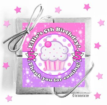 Kids Party Chocolate Quads Favours Cupcake x1
