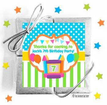 Kids Party Chocolate Quads Favours Bouncy Castle x1