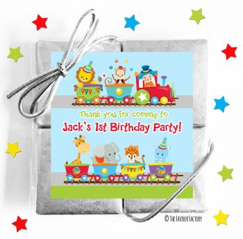 Kids Party Chocolate Quads Favours Circus Animal Train x1