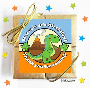 Kids Party Chocolate Quads Favours Cute Dinosaur x1