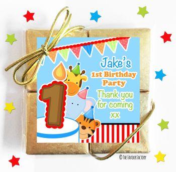 Kids Party Chocolate Quads Favours Animals Friends Boys x1