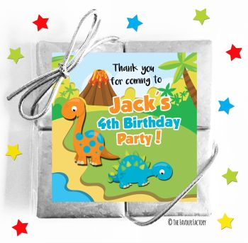 Kids Party Chocolate Quads Favours Two Dinosaurs x1