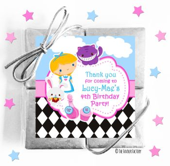 Kids Party Chocolate Quads Favours Alice in Wonderland x1