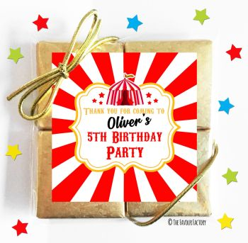 Kids Party Chocolate Quads Favours Circus Tent x1