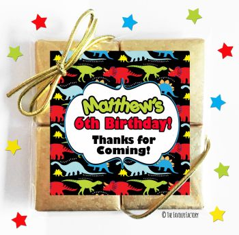 Kids Party Chocolate Quads Favours Bright Dinosaurs x1