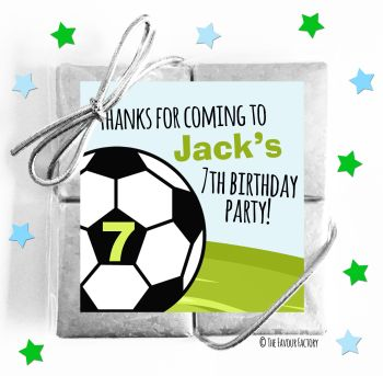 Kids Party Chocolate Quads Favours Football Age x1