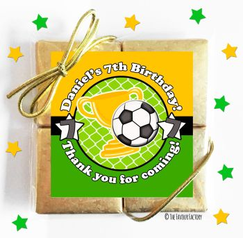 Kids Party Chocolate Quads Favours Football x1