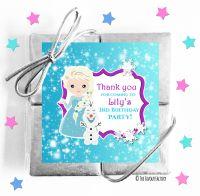 Frozen Princess Kids Party Chocolate Quads