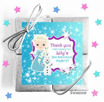 Kids Party Chocolate Quads Favours Frozen Princess x1