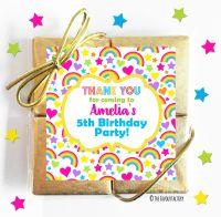 Hearts & Rainbows Kids Party Chocolate Quads