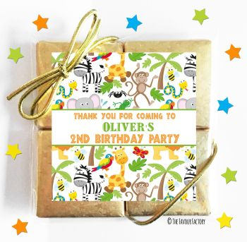 Kids Party Chocolate Quads Favours Animal Madness x1