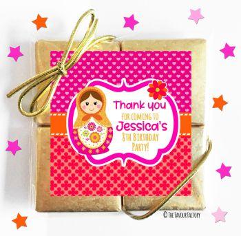 Kids Party Chocolate Quads Favours Matryoshka Doll x1