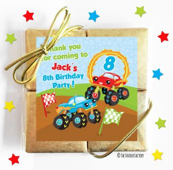 Kids Party Chocolate Quads Favours Monster Trucks x1