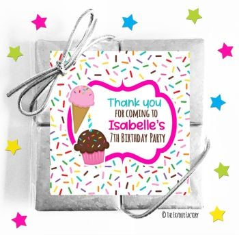 Kids Party Chocolate Quads Favours Ice Cream Sprinkles x1