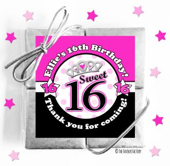 Kids Party Chocolate Quads Favours Girls Sweet Sixteen x1