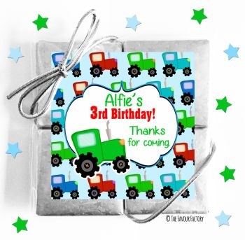 Kids Party Chocolate Quads Favours Tractor x1
