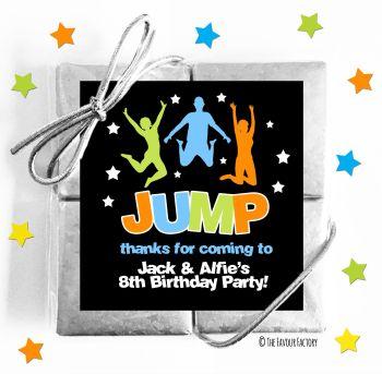 Kids Party Chocolate Quads Favours Trampoline Park x1