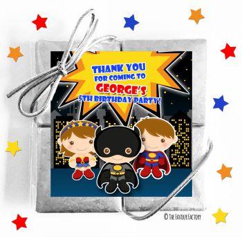 Kids Party Chocolate Quads Favours Superheroes x1