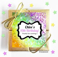 Sparkles Yellows to Purples Kids Party Chocolate Quads