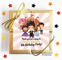 Greatest Showman Kids Party Chocolate Quads
