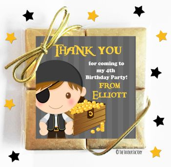 Kids Party Chocolate Quads Favours Pirate With Treasure x1