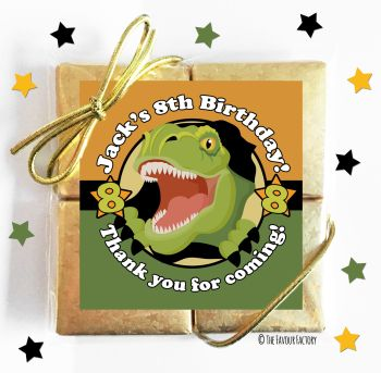 Kids Party Chocolate Quads Favours Scary Dinosaur x1