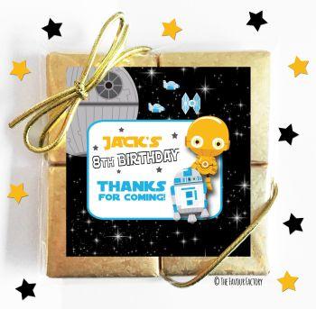 Kids Party Chocolate Quads Favours Star War C3PO x1