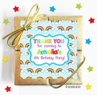 Lots of Rainbows Kids Party Chocolate Quads