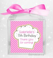 Sweet Boxes Kids Party Personalised Polka Dots Cupcake x1