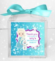 Sweet Boxes Kids Party Personalised Frozen Snow Princess x1