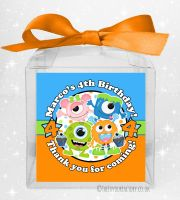 Sweet Boxes Kids Party Personalised Party Monsters x1