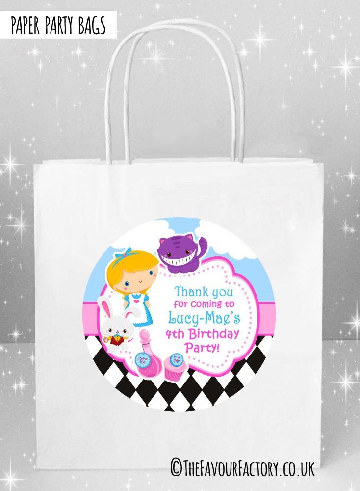 Alice In Wonderland Kids Party Bags x1
