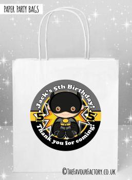 Kids Party Bags Batman Superhero x1