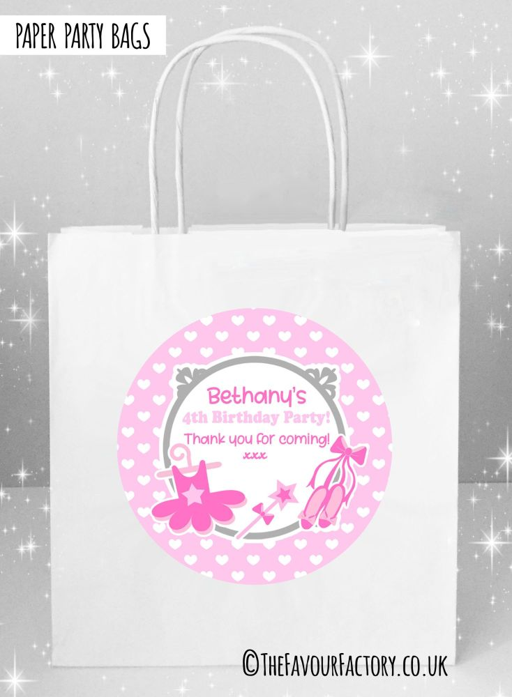 Ballet Kids Birthday Party Bags x1